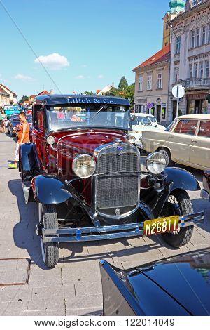 CROATIA SAMOBOR 17 JULY 2011: Ford Model A Deluxe Tudor ''14. Oldtimer Rally'' in Samobor Croatia
