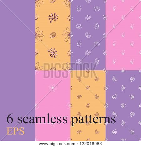 Set seamless pattern for decoration