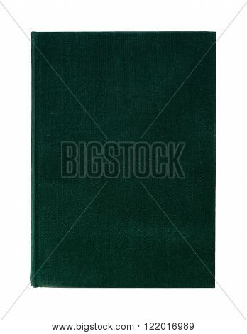 Blank book in textile green hard cover