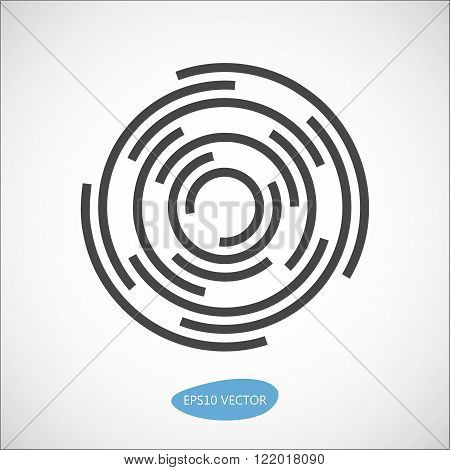 Abstract vector business logo element