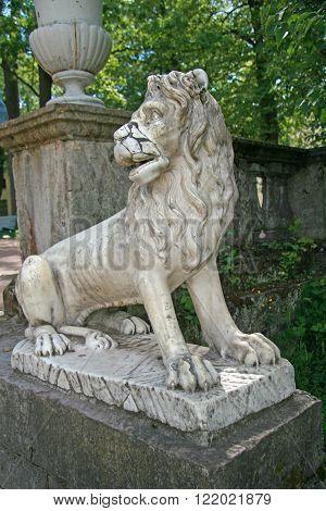 Lion In The Park Of The Pavlovsk Palace, Pavlovsk, Russia