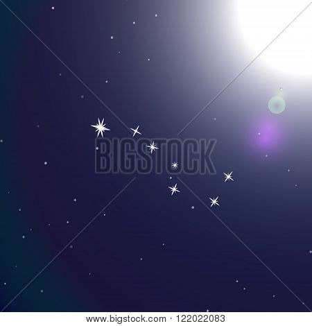 Ursa major constellation