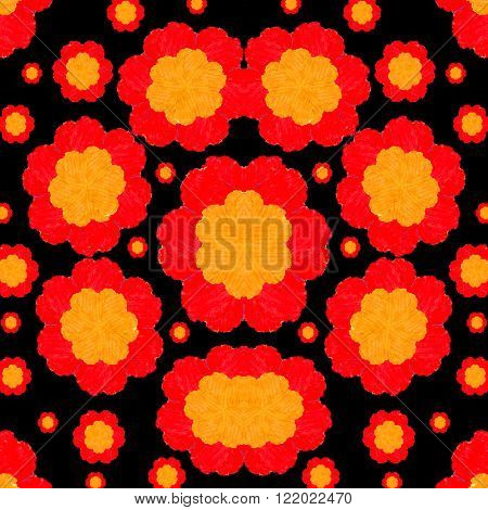 Hand Draw Floral Seamless Pattern