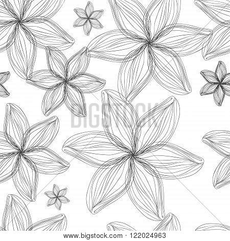 Simple sketched flowers