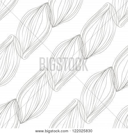 Sketch pattern of lined ornate