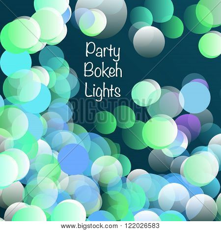 Party bokeh lights