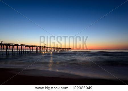 Hatteras Island Pier at Sunrise in North Carolina