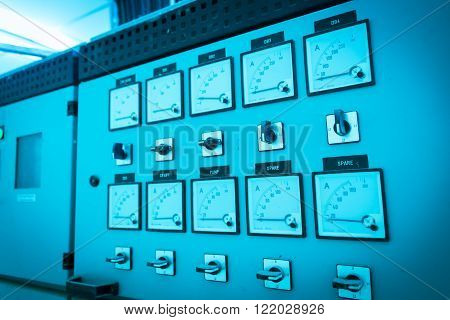 Dials Meter Power Station In Electric Room