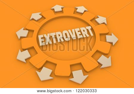 extrovert simple icon metaphor. image relative to human psychology poster