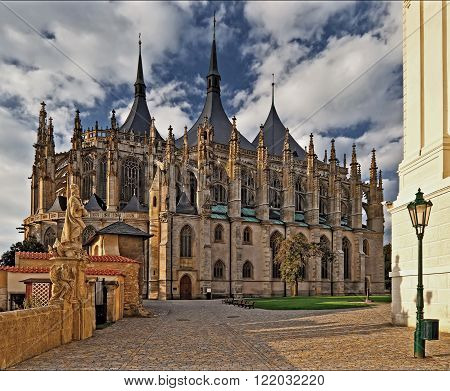 ST. BARBARA'S CATHEDRAL - sunrise in town Kutna Hora