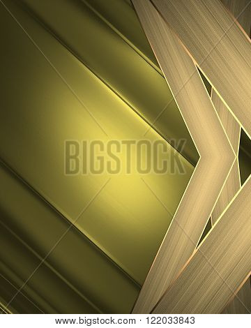Gold Background With Gold Edge. Element For Design. Template For Design. Copy Space For Ad Brochure