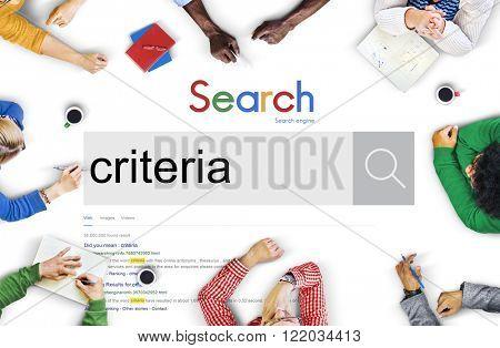 Criteria Measurement Requirement Scale Standard Concept