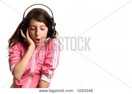 The Girl Listens To Music