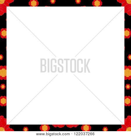 White Background With Decorated Borders