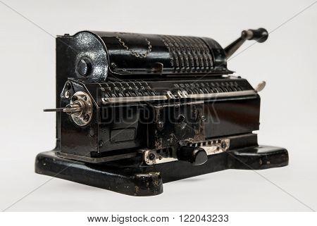Mechanical arithmometer - calculator made in USSR
