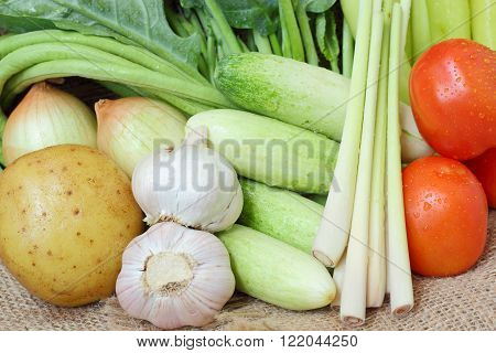 Healthy Food Background Of Vegetables