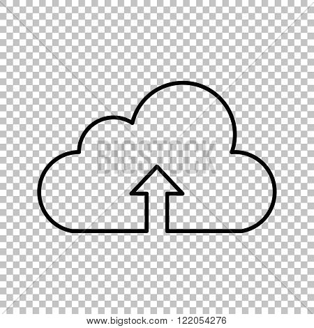 Cloud technologie  line vector icon