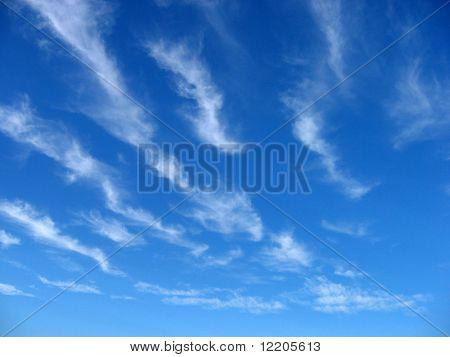 Wispy cloud formation.