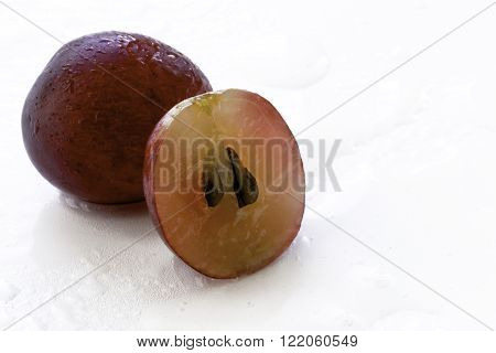 Sliced Red Grape Food Background