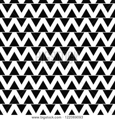 Seamless monochromatic abstract triangle pattern background vector
