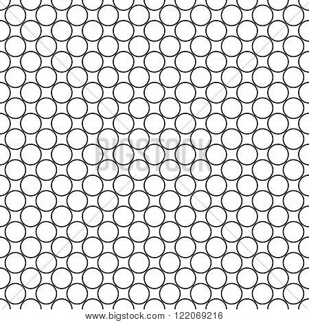 Repeating monochromatic abstract circle pattern design background