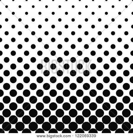 Seamless monochromatic vector circle pattern design background