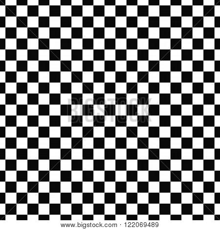 Repeat monochromatic vector checkered square pattern background