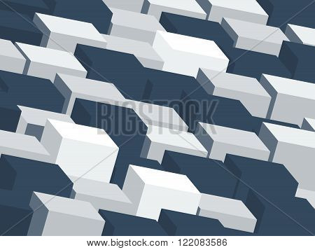 Contrast background with light and dark grey cubes