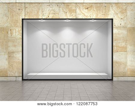 Empty ftorefront of shop background for your edit