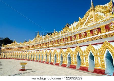 OoHminThoneSel (U-Min Thone-Se) Pagoda. Sagaing. Myanmar (Burma)