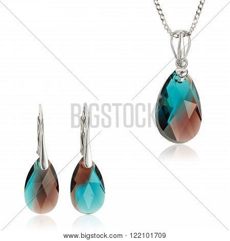 Jewelry set with Swarovski stones