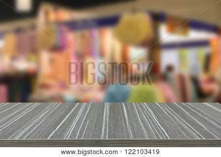 Colorful Woman Cloth Selling In Shop (blur Background)
