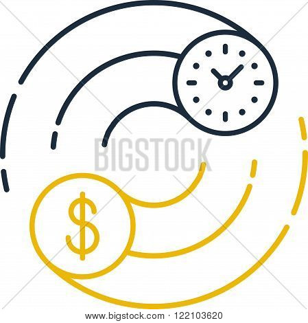 Time is money concept. Internship, savings account, future investments.