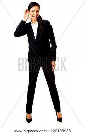 Businesswoman overhears someone