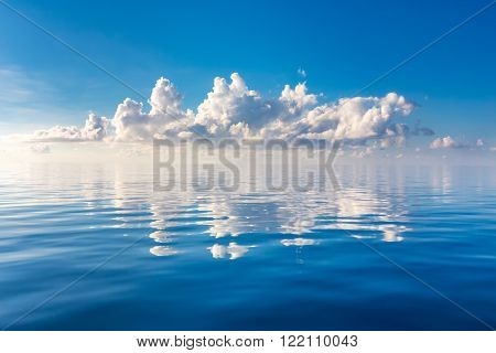 Beautiful cloud over ocean, Maldives
