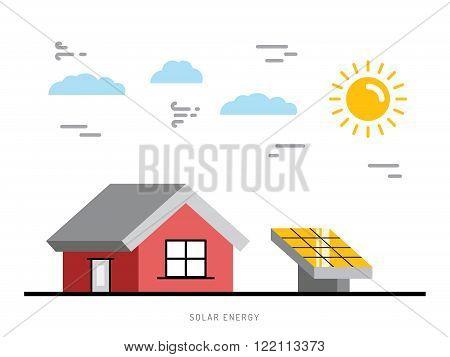 Alternative energy. Alternative energy concept. Solar energy. Solar panels. The installation of solar panels.