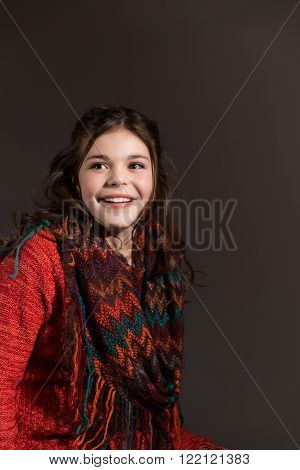 Cute fun and stylish caucasian tween girl