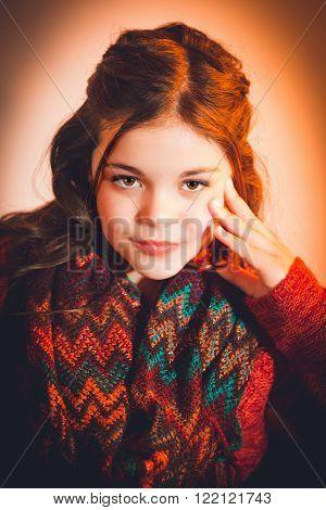 Cute fun and stylish caucasian tween girl