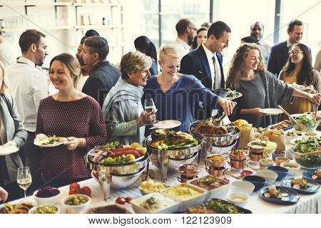 Buffet Dinner Restaurant Catering Food Concept