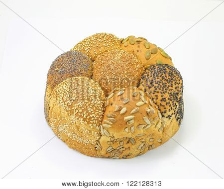 Multi grain loaf pumpkin sesame black seed bread
