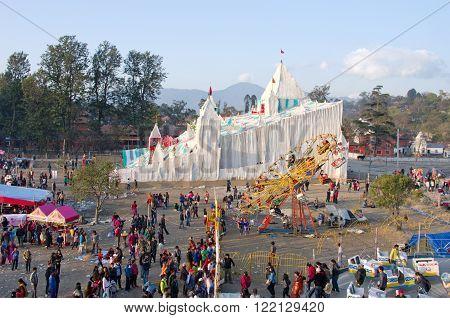 People In Amusement Park In Kathmandu, Nepal