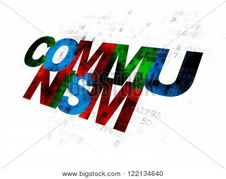 Politics concept: Communism on Digital background