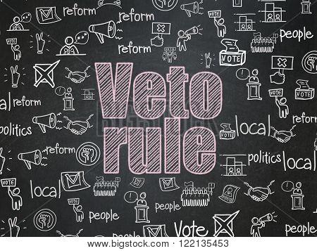 Political concept: Veto Rule on School Board background