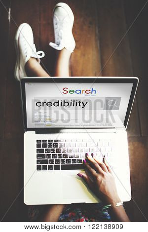 Credibility Dependability Trust Trustworthy Integrity Concept poster