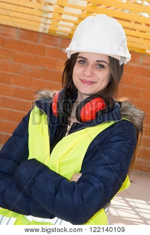 Cheerful Construction Engineer In A House Under Construction