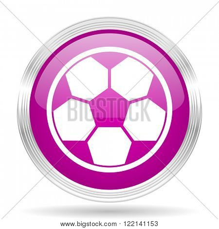 soccer pink modern web design glossy circle icon