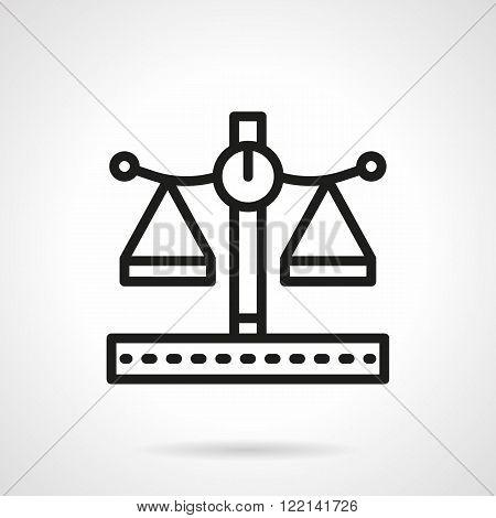 Pharmacy scales black line vector icon