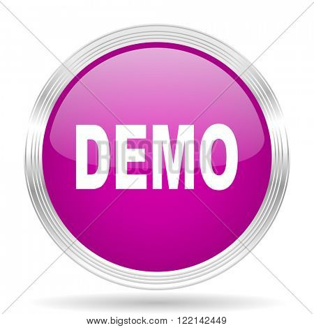 demo pink modern web design glossy circle icon