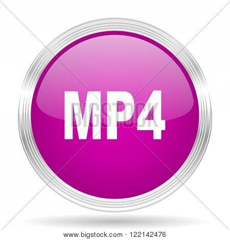 mp4 pink modern web design glossy circle icon