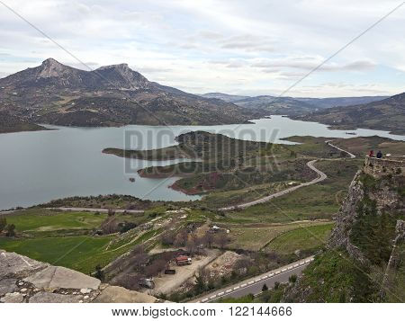 The Zahara Reservoir was constructed in order to serve the agricultural needs of the area. ** Note: Visible grain at 100%, best at smaller sizes